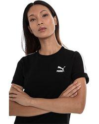 PUMA Classics - Aansluitend Zwart T-shirt Met Logo