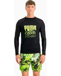 PUMA Psygeo Rash Guard Zwemshirt - Zwart