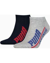 PUMA Logo Sneaker Socken 2er Pack Schuhe - Blau