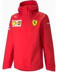 PUMA Ferrari Team Gewebte Kapuzenjacke - Rot