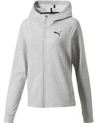259ab00f67ab PUMA - Training Urban Sports Women s Full Zip Hoodie - Lyst