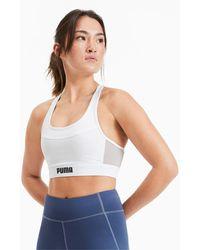 PUMA Top Corto de Training Layer - Blanco