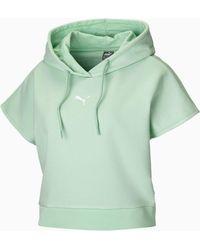 PUMA Short Sleeve Hoodie - Groen
