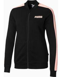 PUMA Contrast Full Zip Sweat Jacket - Zwart