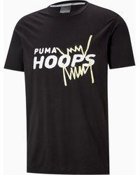 PUMA Camiseta de Baloncesto de Manga Corta Back P - Negro
