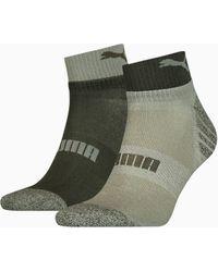 PUMA Seasonal Quarter Socken 2er-Pack - Grün