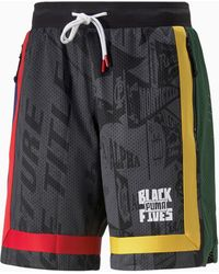 PUMA Front Page Basketball-Shorts - Schwarz