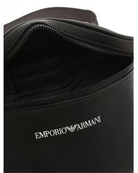 Giorgio Armani Marsupio Waist Bag Nero Con Logo A Contrasto