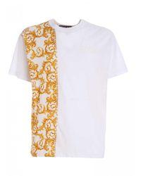 Versace T-Shirtbianca Con Ricamo Logo - Bianco