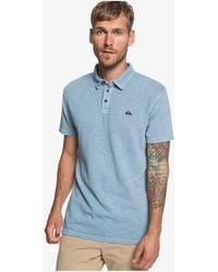 Quiksilver Short Sleeve Polo Shirt - Blue