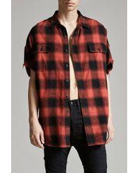 R13 - Oversized Cut-off Shirt - Lyst
