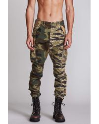 RATT Military Cargo Trousers - Multicolour