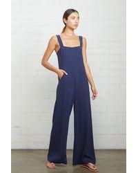 Rachel Pally Linen Alda Jumpsuit - Blue