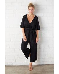 Rachel Pally - Crop Meridith Jumpsuit - Black - Lyst