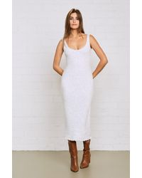 Rachel Pally Rib Sweater Abbie Dress - White