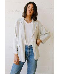 Rachel Pally Linen Brea Jacket - White
