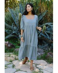 Rachel Pally Linen Mae Dress - Blue