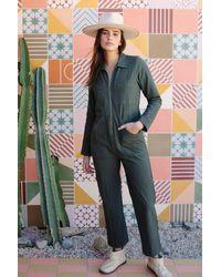 Rachel Pally Linen Canvas Shelby Jumpsuit - Green