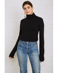 Rachel Pally Rib Sweater Shea Turtleneck - Black