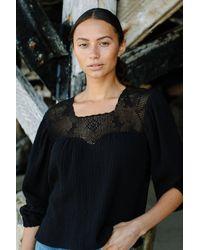 Rachel Pally Gauze Cece Top - Black