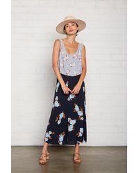 Rachel Pally Crepe Midi Skirt - Black Flower