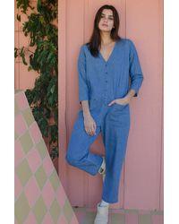 Rachel Pally Denim Troy Jumpsuit - Blue