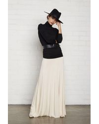 Rachel Pally Long Full Skirt - Cream - Black