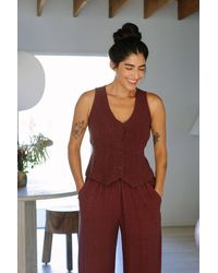 Rachel Pally Linen Louie Vest - Multicolour