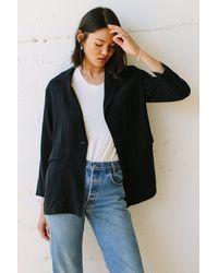 Rachel Pally Linen Brea Jacket - Black