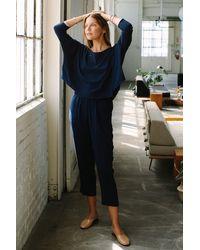 Rachel Pally Pucker Rayon Cisco Top - Blue