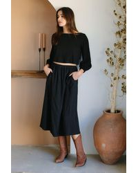 Rachel Pally Linen Olivia Skirt - Black