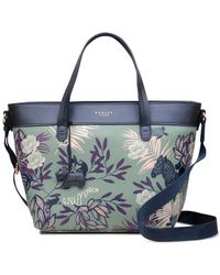 Radley Palms Medium Zip-top Multiway Bag - Blue