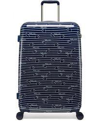 Radley Dog Stripe Large Suitcase - Blue