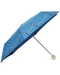 Radley Driving Home For Christmas Umbrella - Blue