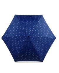 Radley Ditsy Dog Foil Mini Telescopic Umbrella - Blue