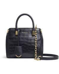 Radley Lansdowne Road - Faux Croc Mini Grab Multiway Bag - Black