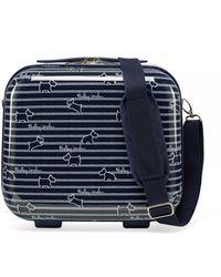 Radley Dog Stripe Vanity Case - Blue