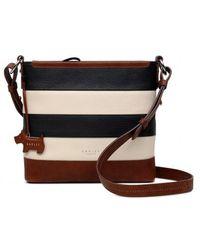 Radley - Multi-coloured Striped Leather 'babington' Medium Crossbody Bag - Lyst