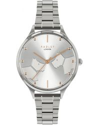 Radley Face To Face Bracelet Watch With Kissing Dog Dial - Metallic