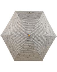 Radley Striped Umbrella - Grey
