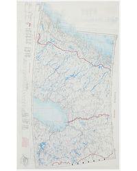RÆBURN 1950's Silk Map Scarf, Namsos - Multicolour