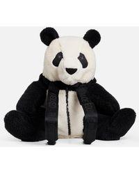 RÆBURN Fleece Panda Rucksack - Black
