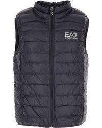 Emporio Armani Down Jacket For Men - Blue