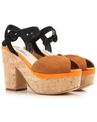Prada - Wedges For Women On Sale In Outlet - Lyst