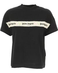 Palm Angels - Embroidered Flower T-shirt - Lyst