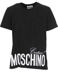 Moschino Camiseta con logo estampado - Negro