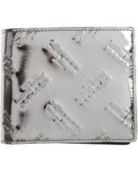 Maison Margiela Brieftasche für Herren - Mettallic