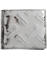 Maison Margiela Wallet for Men In Outlet - Metallizzato