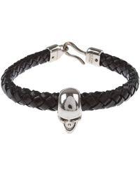 Alexander McQueen Bracelet Homme Pas cher en Soldes - Noir
