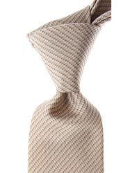 Brioni Cravates Pas cher en Soldes - Marron